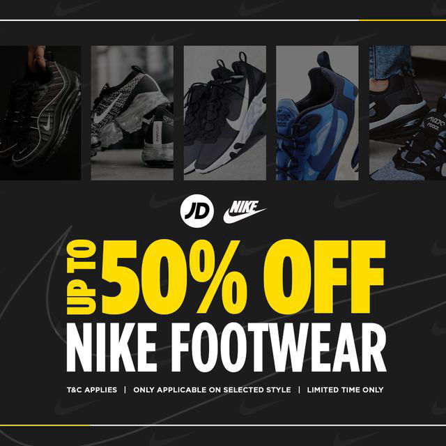 Pasteles periscopio detección  Nike Up to 50% off by JD Sports, King of Trainers @ Sunway Carnival Mall